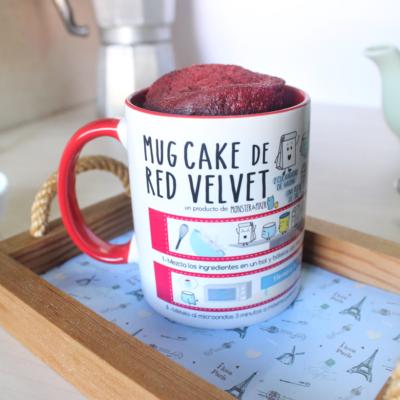 TARTA RED VELVET - TAZA MUG CAKE - MONSTER AND PIXER