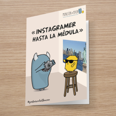 Tarjeta Instagramer- Monster and Pixer