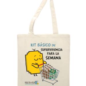 """Bolsa de tela """"KIT BÁSICO DE SUPERVIVENCIA"""""""