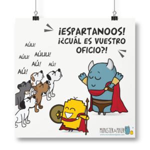 """Lámina """"Espartanos"""""""
