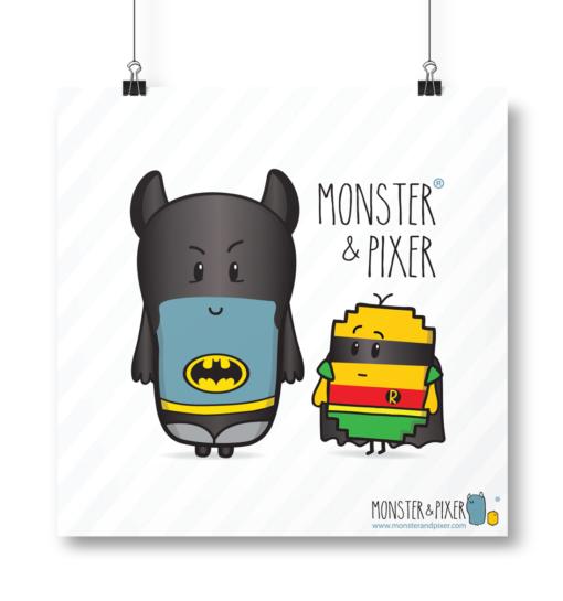 Lámina Batman y Robin - Monster & Pixer