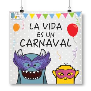 """Lámina """"La vida es un carnaval"""""""