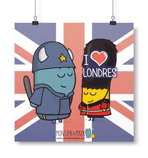 Lámina Londres - Monster & Pixer