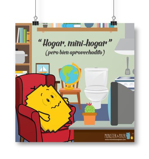 Lámina Hogar, mini-hogar - Monster & Pixer