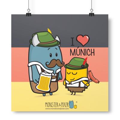 Lámina Múnich - Monster & Pixer