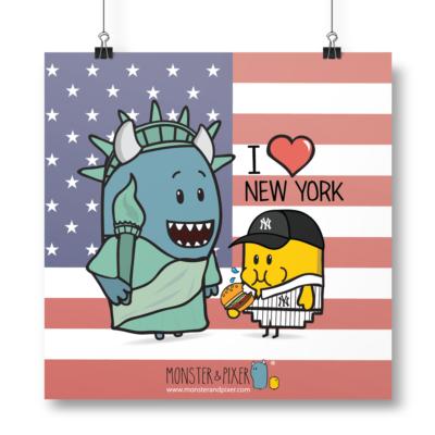 Lámina New York - Monster & Pixer