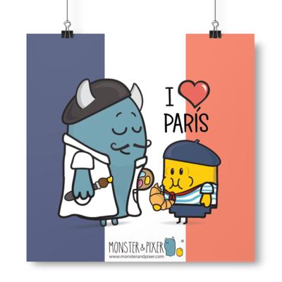 Lámina París - Monster & Pixer