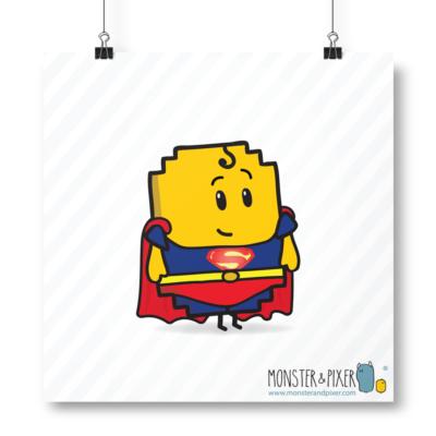 Lámina Superman - Monster & Pixer