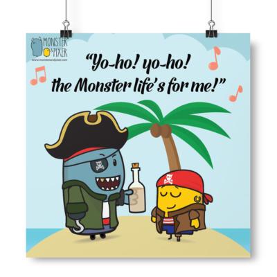 Lámina Yo ho! Piratas - Monster & Pixer
