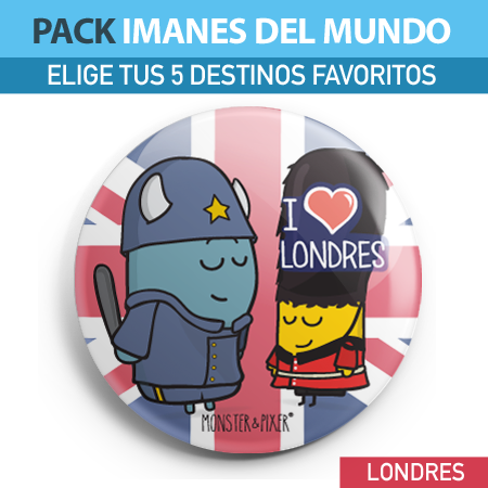 IMÁN LONDRES - MONSTER AND PIXER