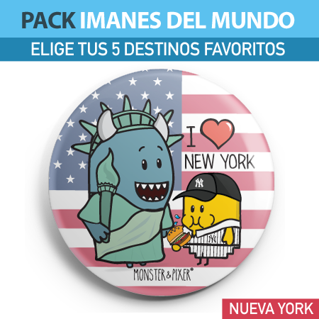 IMÁN NUEVA YORK - MONSTER AND PIXER