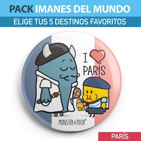 IMÁN PARÍS - MONSTER AND PIXER
