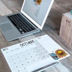 Descargable gratuito – Calendario Octubre