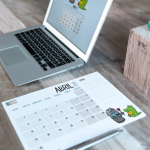 Descargable gratuito – Calendario Abril