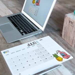 Descargable gratuito – Calendario Julio