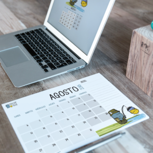 Descargable gratuito – Calendario Agosto