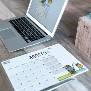 Descargable gratuito – Calendario Agosto