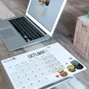 Descargable gratuito – Calendario Octubre 2019